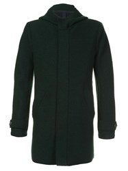 Harris Wharf London Hooded Fitted Parka Green