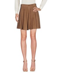 Simonetta Ravizza Mini Skirts Khaki