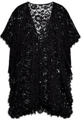 Dolce And Gabbana Bow Detailed Corded Lace Coverup Black