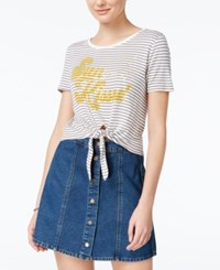 American Rag Sunkissed Knot Front Graphic T Shirt Only At Macy's Egret Combo