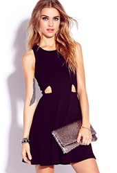 Forever 21 Fancy Cutout A Line Dress Black