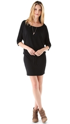 Lanston Boyfriend Mini Dress Black