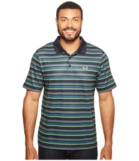 Cinch Athletic Tech Polo Striped Multicolored Men's Clothing