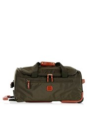 Bric's X Travel Medium Rolling Duffle Bag Olive Green