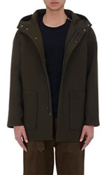 Tomorrowland Men's Wool Oversized Anorak Green