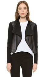 Mackage Ember Perforated Leather Jacket Black