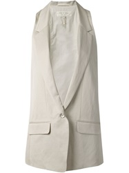 Rag And Bone Rag And Bone 'Ines' Tailored Waistcoat Nude And Neutrals