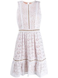 Michael Michael Kors Floral Lace Dress White