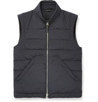 Tom Ford Quilted Shell Down Gilet Midnight Blue
