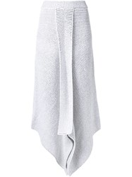 Stella Mccartney Asymmetric Knit Skirt White