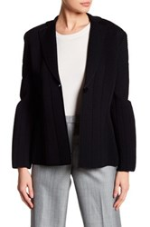Giorgio Armani Textured One Button Blazer Black