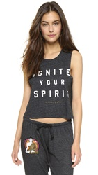 Spiritual Gangster Ignite Your Spirit Crop Tee Vintage Black