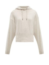 Brunello Cucinelli Hooded Cashmere Sweater Cream