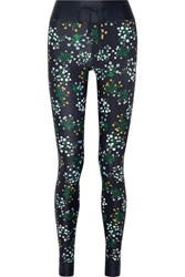 The Upside Ditsy Floral Print Stretch Leggings Navy