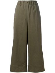 Odeeh Cropped Trousers Green