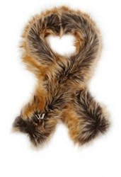 Imposter Faux Fur Scarf Brown