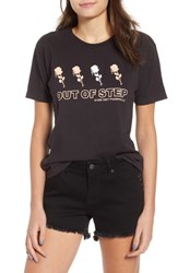 Obey Records Graphic Tee Off Black