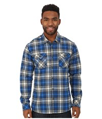 Quiksilver Everyday Flannel Woven Top Everyday Flannel Victoria Blue Men's Long Sleeve Button Up