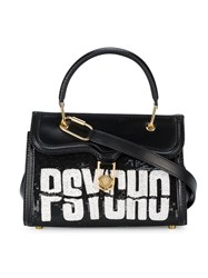 Olympia Le Tan Psycho Sequin Embellished Tote Leather Sequin Black