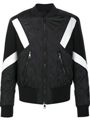 Neil Barrett Quilted Bomber Jacket Black