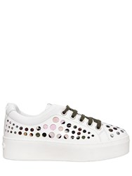 Kenzo 40Mm Cut Out Patent Leather Sneakers