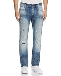 Prps Goods And Co. Protest Vote Slim Fit Jeans In Indigo Blue