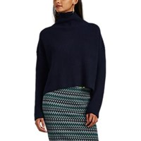 A.L.C. Ribbed Wool Mock Turtleneck Sweater Navy