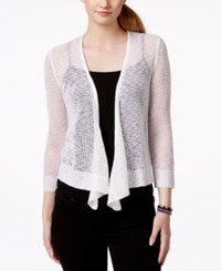 It's Our Time Juniors' Waterfall Bolero Cardigan Sweater White