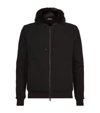 Michael Kors Rabbit Fur Hoodie Male Black