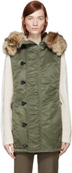 3.1 Phillip Lim Khaki Sleeveless Hooded Vest