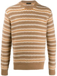 Prada Patterned Knit Striped Jumper 60