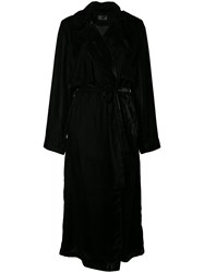 Rta Belted Trench Coat Black