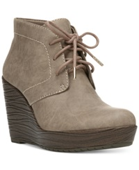 Dr. Scholl's Blaire Wedge Booties Women's Shoes Taupe