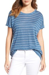 Vince Camuto Women's Two By Stripe Linen Tee