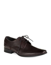 Calvin Klein Brodie Burnished Leather Oxfords Oxblood