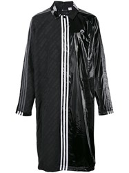 Adidas Originals By Alexander Wang Contrasting Panel Logo Coat Unisex Polyester S Black