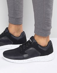 Pull And Bear Pullandbear Trainers In Black With Small Print Black