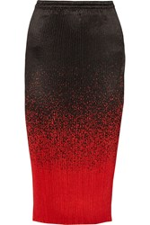 Alexander Wang Pleated Satin Skirt Red