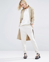 Selected Crystal Trousers In Textured Sweat Cream