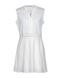 Yes Zee By Essenza Short Dresses White