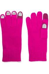 Marc By Marc Jacobs Wild Thing Foiled Merino Wool Gloves Pink