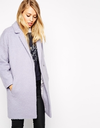 Whistles Ira Textured Cocoon Coat Lilac