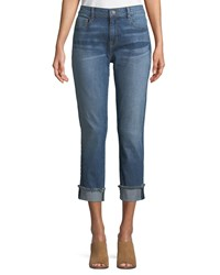 Parker Smith Anti Fit Rolled Cuffs Crop Jeans Lighthouse