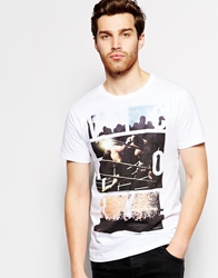 Esprit T Shirt With Boxing Victory Print White