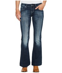 Rock And Roll Cowgirl Trousers Bootcut In Dark Vintage W8 2340 Dark Vintage Women's Jeans Navy