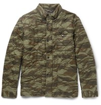 J.Crew Sussex Camouflage Print Quilted Cotton Jacket Green