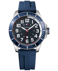Tommy Hilfiger Men's Navy Silicone Strap Watch 48Mm 1791069