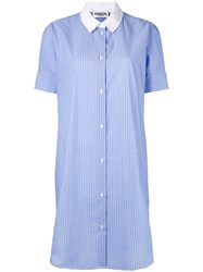Essentiel Antwerp Striped Longline Shirt Women Cotton Polyester 36 Blue