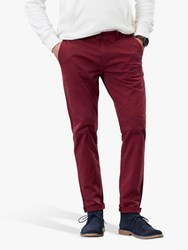 Joules Laundered Slim Fit Chinos Middleton Red