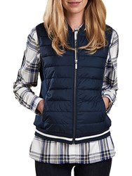 Barbour Bleachey Baffle Quilted Gilet Navy Marl